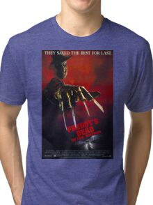 A Nightmare On Elm Street Part 6 (Freddy's Dead: The Final Nightmare) - Original Poster 1991 Tri-blend T-Shirt