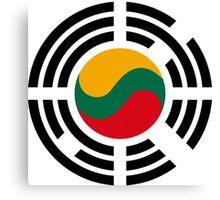 Korean Lithuanian Multinational Patriot Flag Series Canvas Print