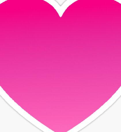 Gradient Pink Heart Sticker