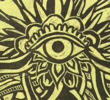 Eye Spirit Linocut Sticker