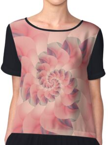 Soft Pink Fractal Petals Chiffon Top