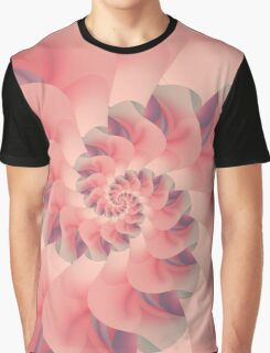 Soft Pink Fractal Petals Graphic T-Shirt