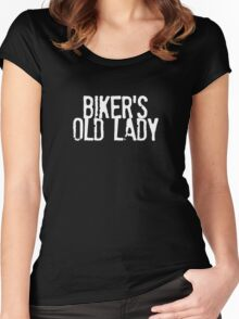 Biker's Old Lady Logo Women's Fitted Scoop T-Shirt