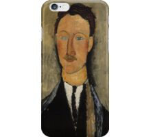Amedeo Modigliani - Portrait of the Artist Leopold Survage 1918 Italian  Elegant Man Portrait Fashion  iPhone Case/Skin