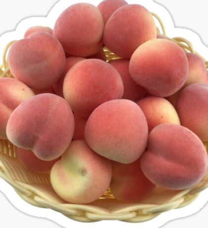 Peach basket Sticker