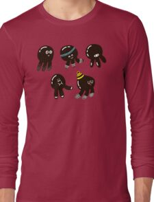 Black cute octopuses Long Sleeve T-Shirt