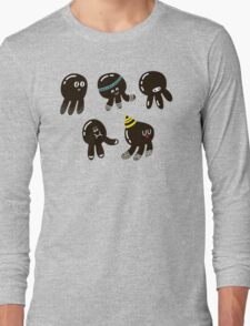 Black cute octopuses Long Sleeve T-Shirt
