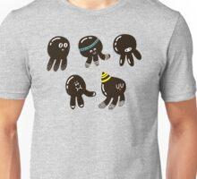 Black cute octopuses Unisex T-Shirt