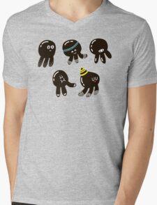 Black cute octopuses Mens V-Neck T-Shirt