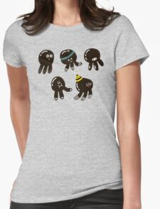Black cute octopuses Womens Fitted T-Shirt