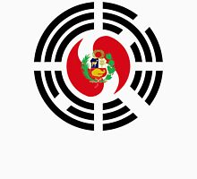 Korean Peruvian Multinational Patriot Flag Series Unisex T-Shirt