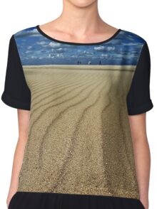 Our thoughts strayed constantly and without boundary... Chiffon Top