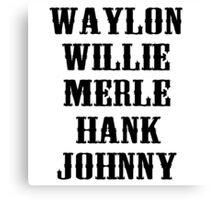 The Original Country Legend Canvas Print