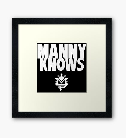 Manny Pacman Pacquiao Knows Framed Print