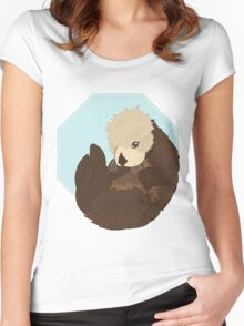 Adorable Sea Otter  Women's Fitted Scoop T-Shirt