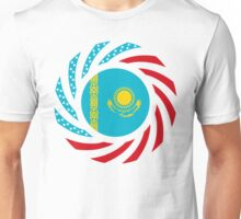 Kazakhstani American Multinational Patriot Flag Series Unisex T-Shirt