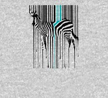 Dripping Zebra Art Animal Barcode funny logo Unisex T-Shirt