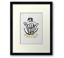 Jiu-Jitsu state of mind Framed Print