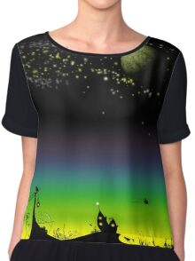 Sunset on a marvelous alien planet (the wide version) Chiffon Top