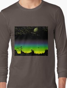 Sunset on a marvelous alien planet (the wide version) Long Sleeve T-Shirt