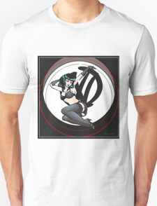 Graffiti Logo Retro Pin up girl Unisex T-Shirt