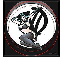 Graffiti Logo Retro Pin up girl Photographic Print