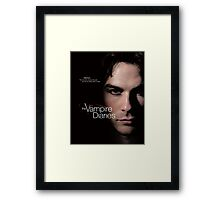 Damon Quotes The Vampire Diaries Framed Print
