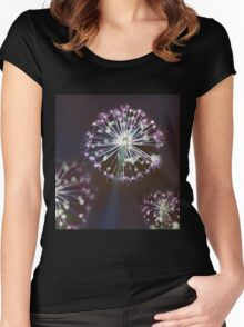 Floral Fireworks Women's Fitted Scoop T-Shirt