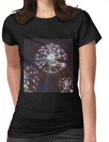 Floral Fireworks Womens Fitted T-Shirt
