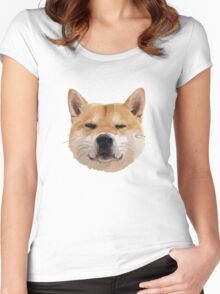 Hachiko Dog Women's Fitted Scoop T-Shirt