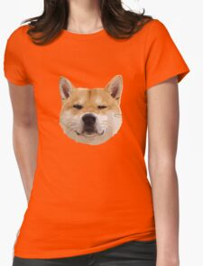 Hachiko Dog Womens Fitted T-Shirt