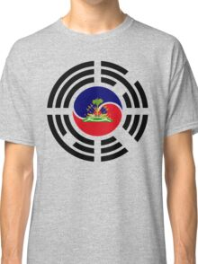 Korean Haitian Multinational Patriot Flag Series Classic T-Shirt