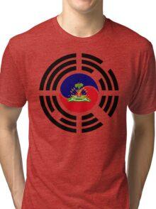 Korean Haitian Multinational Patriot Flag Series Tri-blend T-Shirt