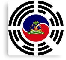 Korean Haitian Multinational Patriot Flag Series Canvas Print