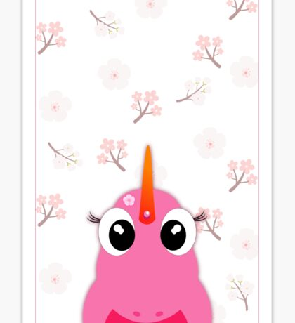 licorne flower Sticker