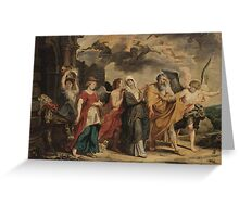 WILLEM VAN HERP THE ELDER  THE FLIGHT OF LOT AND HIS FAMILY FROM SODOM Greeting Card
