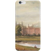 WILLIAM EVANS OF ETON -  Eton College, Berkshire from Fellows Eyot   Watercolour heightened with white iPhone Case/Skin