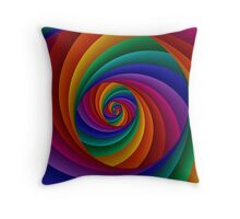 Beautiful Rainbow Spiral  Throw Pillow