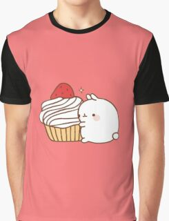 Molang with cupcake Graphic T-Shirt