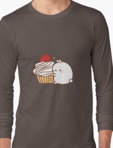 Molang with cupcake Long Sleeve T-Shirt