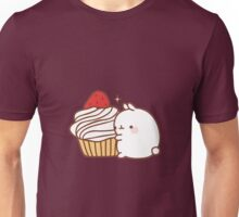 Molang with cupcake Unisex T-Shirt