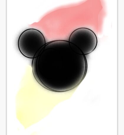 Mickey water color Sticker