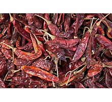 Dried Chili Peppers Photographic Print