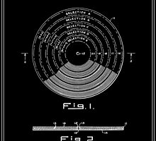 Phonograph Record Patent - Black by FinlayMcNevin