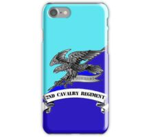 2nd Cavalry Regiment Badge and Colours iPhone Case/Skin