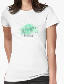 Abstract Ionia Logo Womens Fitted T-Shirt