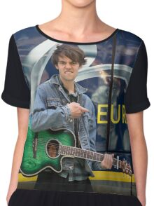 Champion London busker Alex James Ellison Chiffon Top