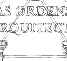 As Ordens de Arquitectura. Architecture Orders Sticker