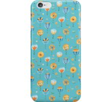 flowers in turquoise iPhone Case/Skin
