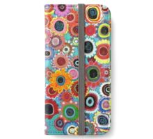 Hand painted abstract floral pattern iPhone Wallet/Case/Skin